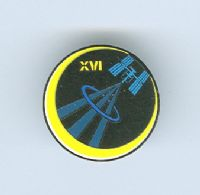Expedition 16 ISS International Space Station Mission Lapel Pin Official NASA